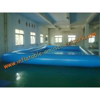 China 10 m x 6m Water Games Inflatable Water Pools  With 0.9mm Pvc Tarpaulin wholesale