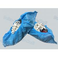 China Non Woven Non Skid Disposable Surgical Shoe Covers Blue Color 15 x 40cm wholesale