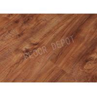 China Wear Resistant HDF Laminate Wood Flooring AC4 Carb2 V Groove EIR Waxed Crystal Surface wholesale
