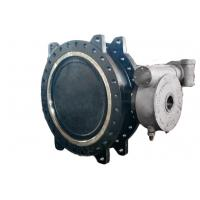 Low Torque Double Flanged Butterfly Valve , High Temp Butterfly Valve Field Replaceable Seats