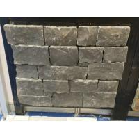 China Black Limestone Stone Veneer with Steel Wire Back,Black Stone Ledger Wall Cladding wholesale