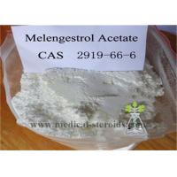 China Melengestrol Acetate Raw Steroid Powders Light Tan Solid For Anti Cancer , CAS 2919-66-6 on sale