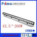 "China 42.5"" 260W Cree Led Light Bar! Single Row Light Bar for Jeep SUV 4X4 wholesale"