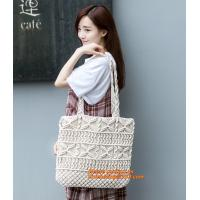 China HOT! Handmade girl Summer bags Beach bag female bag rattan straw bags woven bamboo handbag on sale