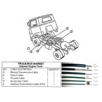 China Durable Long Life Automotive Control Cable Truck And Bus Spare Parts wholesale