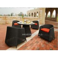 Quality 5PCS Rattan Wicker Patio Seating Sets ,  Aluminium Metal Garden Chairs And Tables for sale