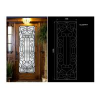 China Glass Lowes Wrought Iron Entry Doors And Glass Agon Filled 22*64 inch Size Durable wholesale
