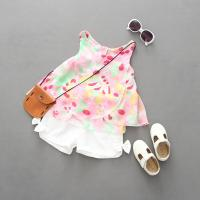 China 2016 Fashion Kid's Floral Summer Prince Style Top+Cute Butterfly Floral Shorts Pants 2 PCS wholesale
