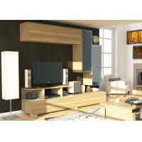China Hotel Solid Wood Tv Stand With Drawers , Modern Tv Entertainment Units  wholesale