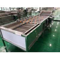 China 220V / 380V Fruit And Vegetable Washer Machine With Water Circulating System wholesale