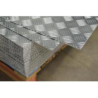 China 5052 5 Bars Aluminum Checker Sheet Plate Used For Non Slip Staircase on sale