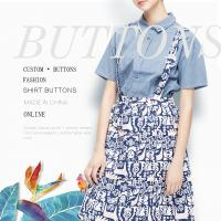 China Cool Flowers Dress Bulk Buttons For Shirt Coloured Prints Resin 4 / 2 Holes wholesale