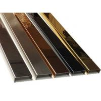 China Stainless steel profiled edging strip processing ,rose gold stainless steel U-shaped groov wholesale