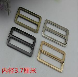 China Factory outlets gunmetal zinc alloy 37 mm adjustable slide buckles for handbag hardware wholesale