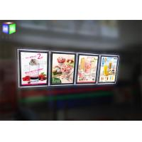 China Indoor Crystal Frame Movie Poster Display Box Free Standing 6MM Thcikness wholesale