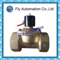 China DN100 4 Inch  Water Pressure Valves Threaded 2 Way Brass 2/2 way AC220V DC24V wholesale