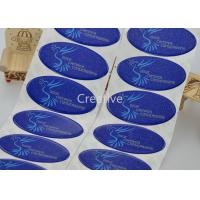 China Glitter Oval PU Doming Stickers Permanent Adhesive Domed Label wholesale
