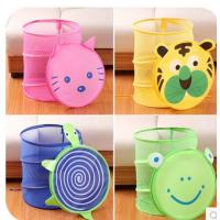 China cute round foldable and collapsible laundry basket pop up barrel storage hamper wholesale