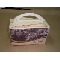 China 6 * 4.5 * 4 Inch White Kraft Paper Treat Box For Cake Packaging 4 Color Printing wholesale