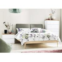 China Modern Bedroom Furniture Set White Gloss/Matt/ Bedroom Furniture Sets with Fabric Bed Head wholesale