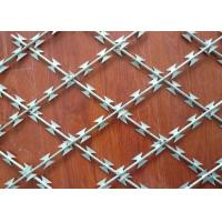 China Easily Assemble Security Barbed Wire , 0.5mm Thickness Stainless Steel Razor Wire wholesale