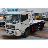 China Dongfeng Tianjin 6 Ton Rescue Tow Truck , flatbedWrecker Truck 180 Hp Cummins Engine wholesale