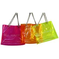 PVC Reusable Transparent Fabric Carrier Bags With Customized Logo