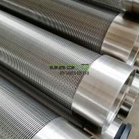 China stainless steel 304 316L wire wrapped screen/ Johnson screen/ water filter pipe wholesale