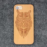 China Bamboo Carved Cell Phone Cases / Mobile Shell Accessories for iPhone X 8 7 6 wholesale