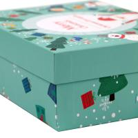China Colored Decorative Christmas Paper Gift Boxes With Lids OEM / ODM Welcomed wholesale
