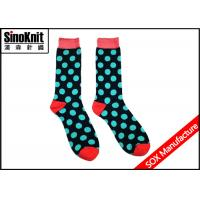 China Colorful Circle Pattern Knitted Happy Sock Men Funky Knee Socks wholesale