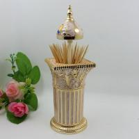 China Shinny Gifts Westland Giftware Magnetic Ceramic Salt  Pepper Shaker with Toothpick Holder on sale
