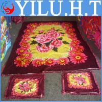 China indian coral velvet fabric bedsheet print wholesale