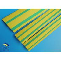 China electrical insulation tube PE/PVC heat shrink tube green / yellow double color on sale