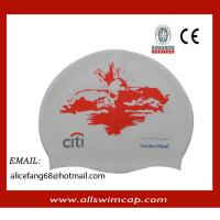 China Adult RUBBER silicone customized swimming hats wholesale