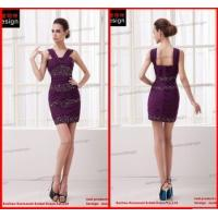 China SM2037 Real Sample Shoulders Strap Pleated Beaded Girls Party Sexy Dresses on sale