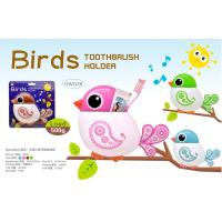 China TOOTHBRUSH & TOOTHPASTE HOLDER - BIRD DESIGN - 4 ASSORTED COLOR wholesale