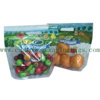 China Customized Printed Fruit Packaging Bags 0.03-0.06mm Thickness For Grape / Cherry wholesale