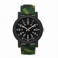 China Plastic Watch with Camouflage Color Plastic Case and Textile Strap, New Arrive Style 2013 Hot-sale wholesale