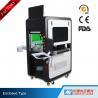 China High Precision Big Enclosed Fiber Laser Marking Machine 100W with Conveyor wholesale