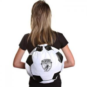 "China Printed Soccer Ball Drawstring Backpack - 17""w x 14.5""h wholesale"