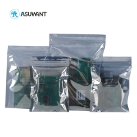 China Anti Static Transparent Shielding Resealable Foil Zip Lock Bags on sale
