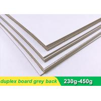 China One side coated Duplex Paper Board with grey back 300g 700 * 1000mm on sale