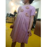 China Funky Girls Fall Dresses Little Girl Ruffle Dresses Pink Sliver Lurex  Roses Decorations wholesale
