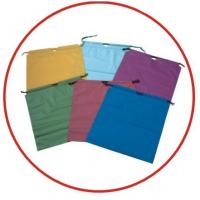 China Colourful Plastic Drawstring Carrier Bags For Apparel / Garments / Clothing wholesale