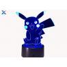 China Colorful Acrylic Light Guide Panel 3D Light Guide Night Light Pikachu PokéMon wholesale