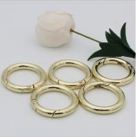 China High end handbag accessories 1 inch gold metal spring ring clasps for webbing wholesale