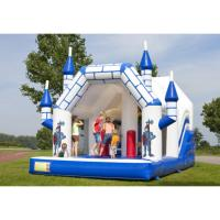 China Funny Cartoon Bouncy Water Slide EN1176 Certificated For Amusement Park wholesale