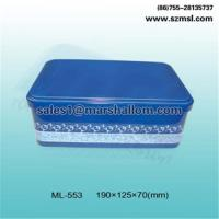 China Rectangular tin box, candy box, gift box, chocolate box, cookie box,food packaging box on sale