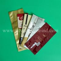China various coffee bags with valve, side-sealed, back-sealed, quad-sealed shape wholesale